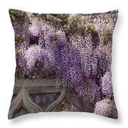 Beautiful Wisteria Throw Pillow