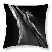 Beautiful Woman Flying Towards The Light Throw Pillow
