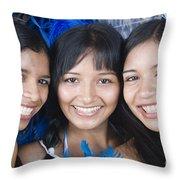 Beautiful Women Of Brazil 10 Throw Pillow