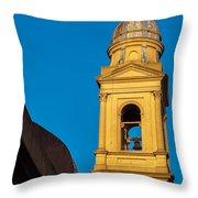 Beautiful Yellow Church Steeple Throw Pillow