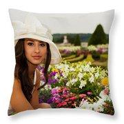 Beautiful Young Woman In Paris Throw Pillow