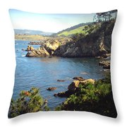 Beautifully Rugged Shoreline At Point Lobos Two Throw Pillow