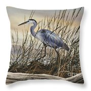 Beauty Along The Shore Throw Pillow