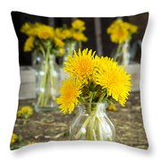 Beauty Among The Weeds Throw Pillow