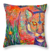 Beauty And Danger Throw Pillow