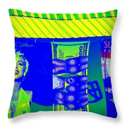 Beauty Buns And Scars Throw Pillow