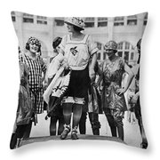 Beauty Contest, 1921 Throw Pillow