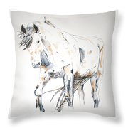 Beauty Throw Pillow by Crystal Hubbard