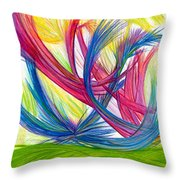 Beauty Gives Joy Throw Pillow by Kelly K H B