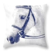 Beauty In A Bridle Throw Pillow