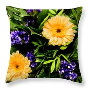 Beauty In The Gardem Throw Pillow