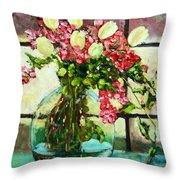 Beauty In The Window Throw Pillow
