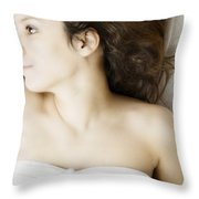 Beauty In White Throw Pillow by Margie Hurwich