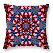 Beauty Of Aruba Kaleidoscope Throw Pillow