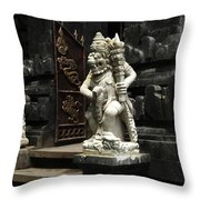 Beauty Of Bali Indonesia Statues 1 Throw Pillow