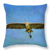 Beauty Of Flight Textured Throw Pillow
