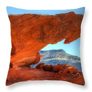 Beauty Of Sandstone Little Finland Throw Pillow by Bob Christopher