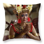 Beauty Of The Barong Dance 1 Throw Pillow