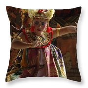 Beauty Of The Barong Dance 2 Throw Pillow