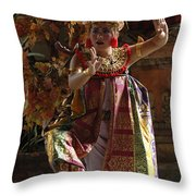 Beauty Of The Barong Dance 3 Throw Pillow
