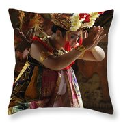 Beauty Of The Barong Dance 4 Throw Pillow