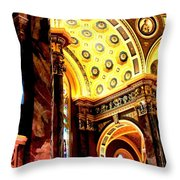 Beauty Of The Basilica Throw Pillow