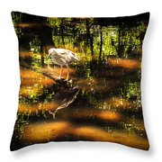 Beauty Of The Bog Throw Pillow by Karen Wiles