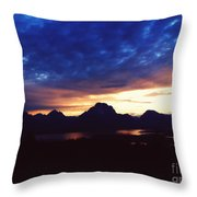 Beauty Of The Grand Tetons Throw Pillow