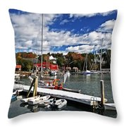 Beauty Of The Harbor Throw Pillow