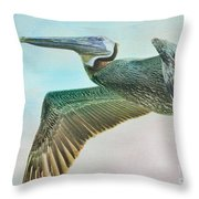 Beauty Of The Pelican Throw Pillow