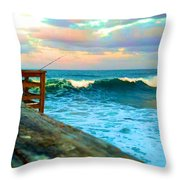 Beauty Of The Pier Throw Pillow