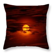 Beauty Of The Sun And Clouds Throw Pillow