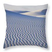 Patterns White Sands New Mexico Throw Pillow