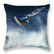 Beauty Of Windsurfing Maui 1 Throw Pillow
