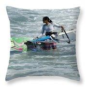 Beauty Of Windsurfing Maui 2 Throw Pillow