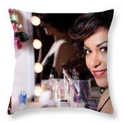 Beauty Portrait Throw Pillow