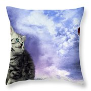Beauty Times Two Throw Pillow