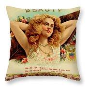 Beauty Vintage Cigar Advertisement  Throw Pillow