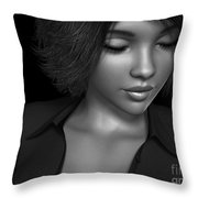 Beauty Was Her Name Bw Throw Pillow