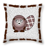 Beaver - Animals - Art For Kids Throw Pillow