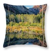 Beaver Lake Sierra Nevada Mountains Throw Pillow