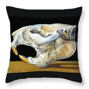 Beaver Skull 1 Throw Pillow