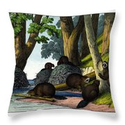 Beaver Throw Pillow