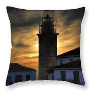 Beavertail Lighthouse Too Throw Pillow