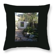 Bebe's Garden Throw Pillow
