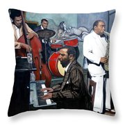 Bebop 'til You Drop Throw Pillow