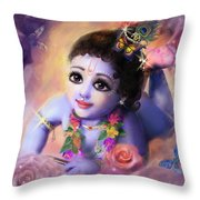 Baby Kaneya Throw Pillow by Lila Shravani