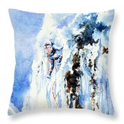 Because It's There Throw Pillow by Hanne Lore Koehler