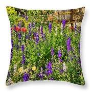 Becker Vineyards' Flower Garden Throw Pillow