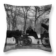 Beckoning Carriage Throw Pillow